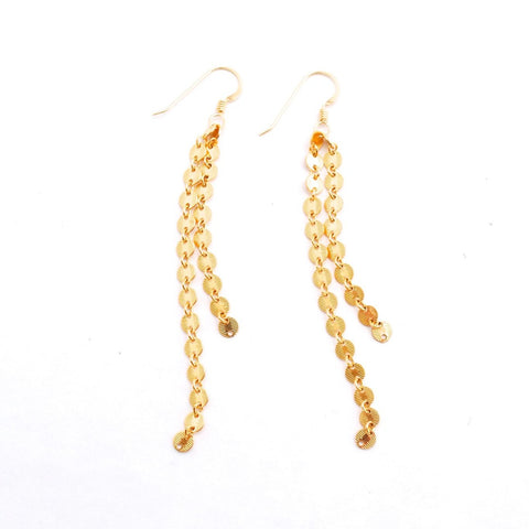 Monaco Gold Dangle Earrings