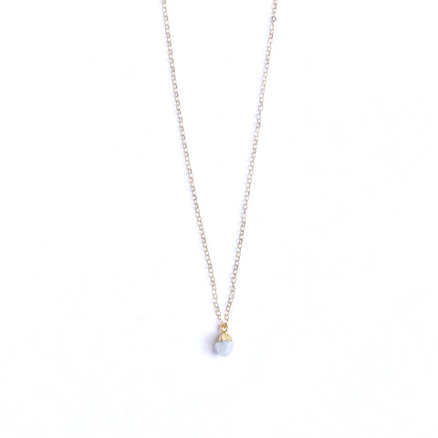 June Birthstone Necklace (Moonstone)