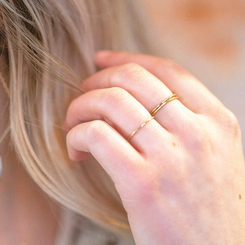 Skinny Stacking Rings