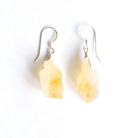 Pisa Silver Citrine Earrings