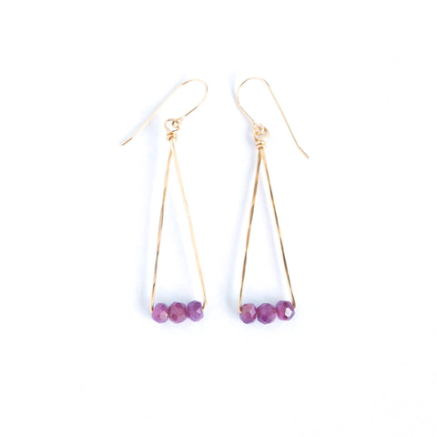 Porto Ruby Earrings