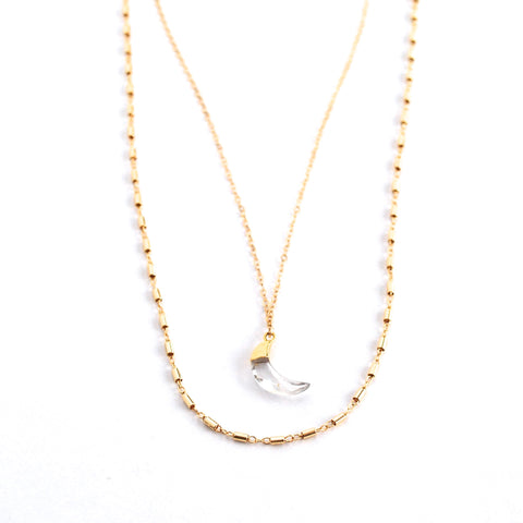 Solana Crystal Moon Necklace