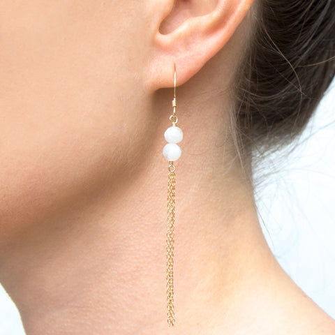 Saint-Tropez Moonstone Earrings