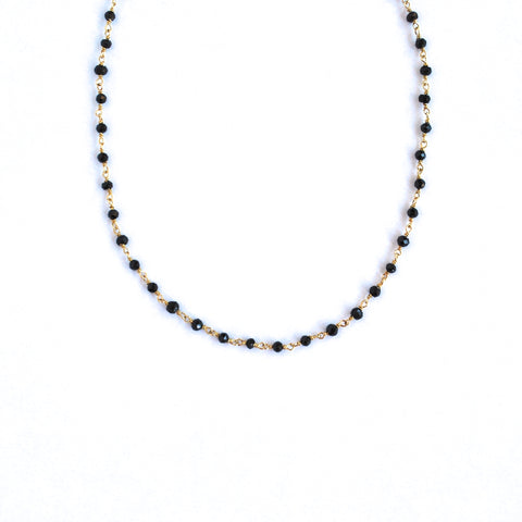 Sydney Black Spinel Mini Necklace
