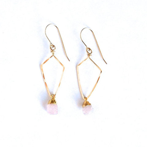 Turin Rose Quartz Earrings