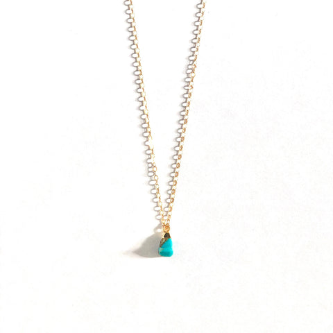December Birthstone Necklace (Turquoise)