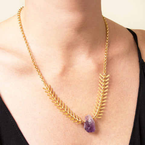Valencia Amethyst Statement Necklace
