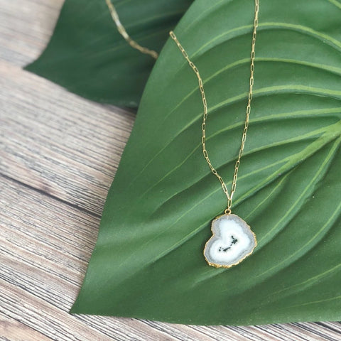 Colima Solar Quartz Necklace