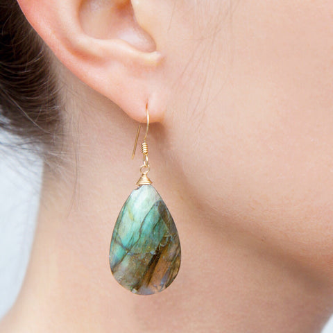 Palma Labradorite Earrings