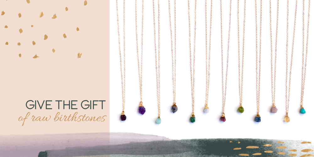 Give the gift of a raw birthstone necklace