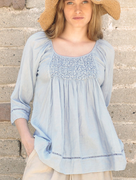 3181 Miranda Smocked Top
