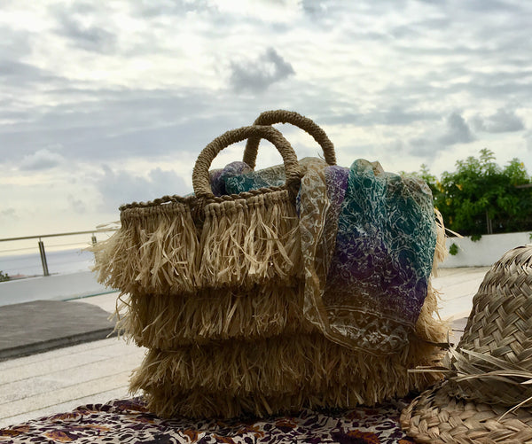 Faviola Fringe Straw Bag