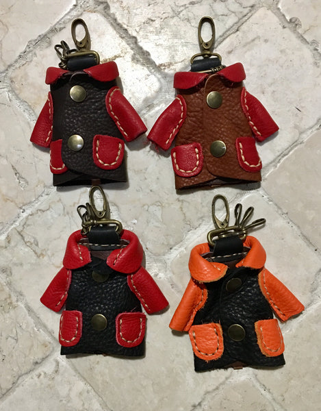 """My Sweet Coat"" Leather Key Chain"