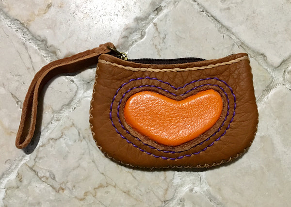 """Love You"" Leather Coin Purse"