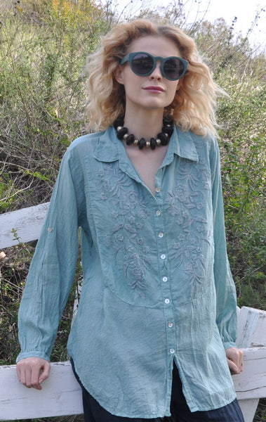 7120 Emma Hand Embroidered Shirt