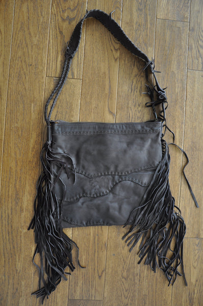 Yanuka Recycled Leather Patch Bag