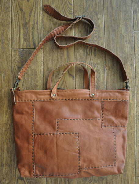 Yasina Recycled Leather Work Bag