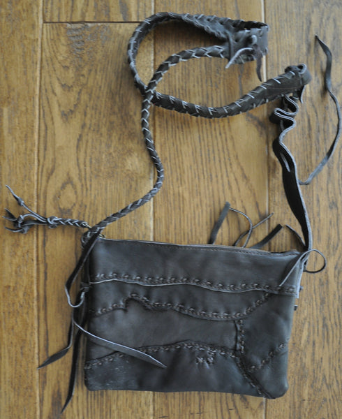 Yen Recycled Leather Patch Cross-Body Bag