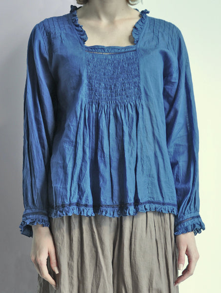 8141 Beatrice Smocked Top