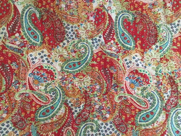 Exotic Paisley Lightweight Kantha Quilt