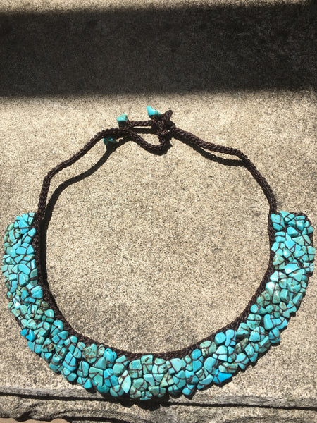 Turquoise Howlite Collar Necklace