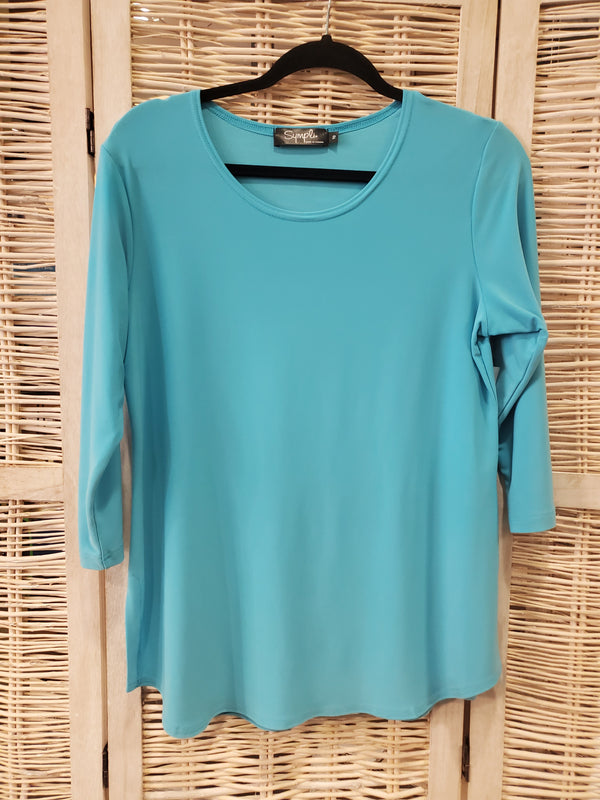 Go To Relaxed Tee in Azure