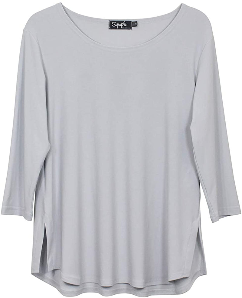Go To Relaxed Tee in Platinum