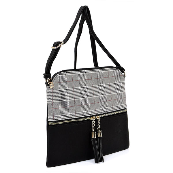 BW2309B-Black Houndstooth