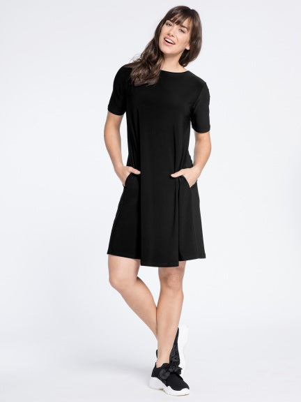 Trapeze Dress-Black