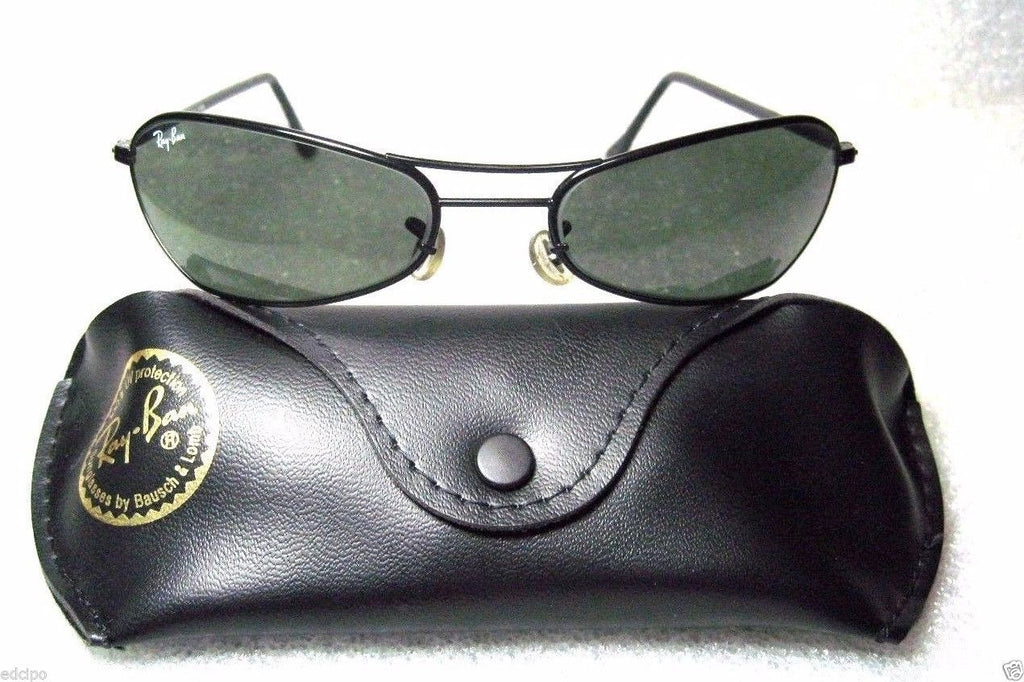 09c9763a5d VINTAGE  NOS RAY-BAN B L ORBS SLEEK W2384C Black Chrome Wrap NEW  SUNGLASSES CASE