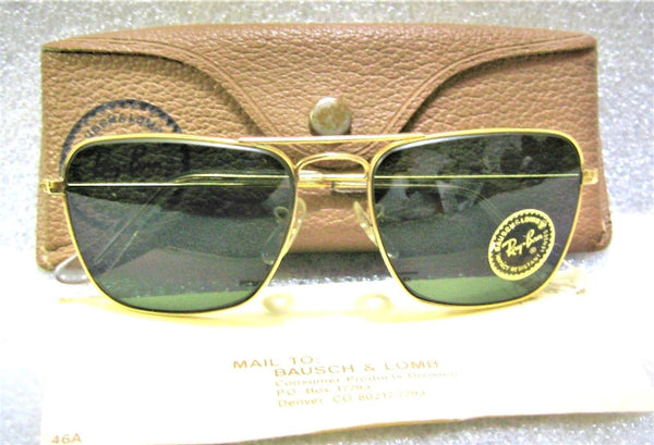 56beca79b1 Sold Out Ray-Ban USA NOS Vintage 1960s B L Aviator Caravan Pilot 52 New  Sunglasses   Case