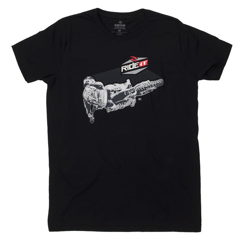 Men's Ride it-JC Collection Back Whip Black T-Shirt