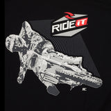 Men's Ride it-JC COLLECTION CORNER SHOT   BLACK T-SHIRT