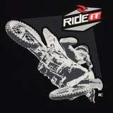 Men's Ride it-JC COLLECTION FRONT WHIP BLACK T-SHIRT