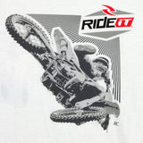 Men's Ride it-JC COLLECTION FRONT WHIP WHITE T-SHIRT