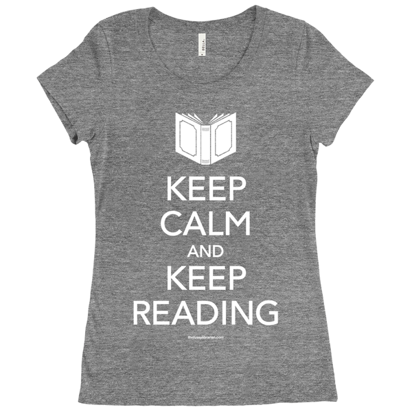 Keep Calm and Keep Reading - Women's T-Shirt