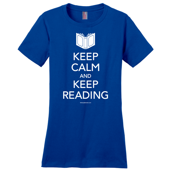 Keep Calm and Keep Reading - Women's T-Shirt (extended size)