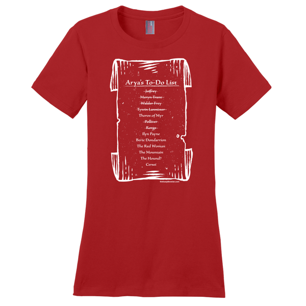 Arya's To-Do List - Women's T-Shirt (extended size)