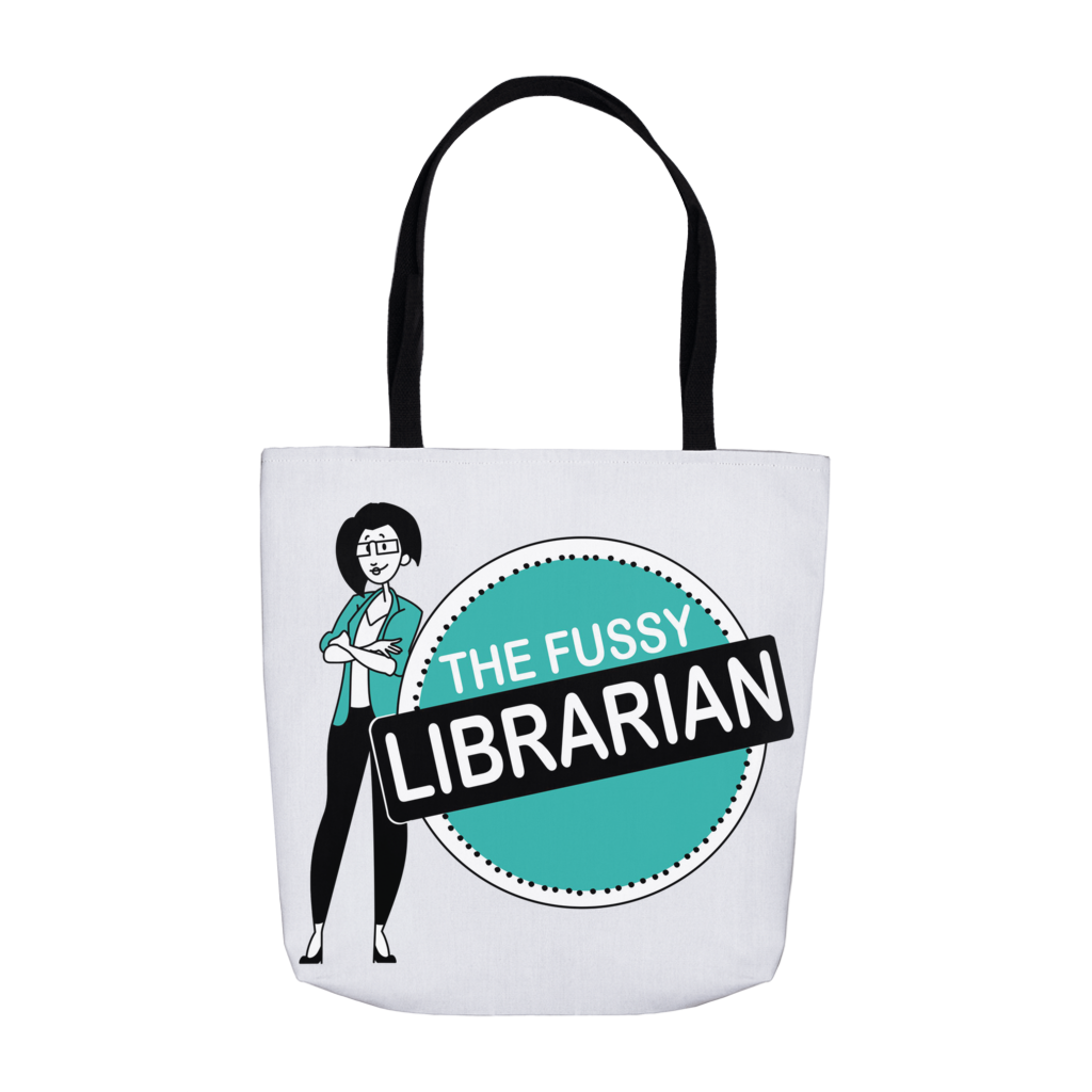 Fussy Librarian tote bags