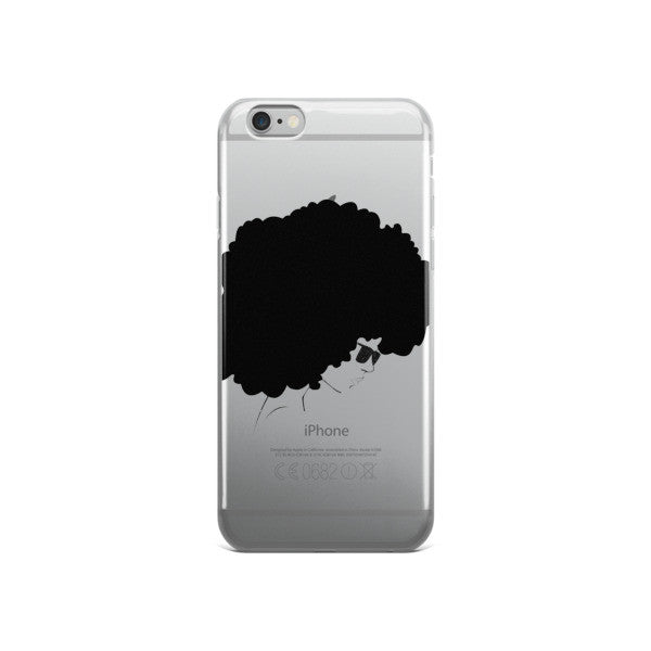 Black Fro iPhone case