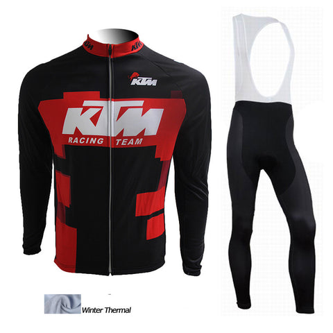 2016 A7 Winter thermal fleece cycling jersey KTM