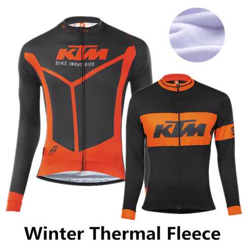 2016 A7 KTM winter cycling clothing fleece thermal cycling jersey