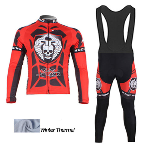 2016 A13 Rock Winter thermal fleece cycling jersey