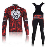 A13 Rock Winter thermal fleece cycling jersey
