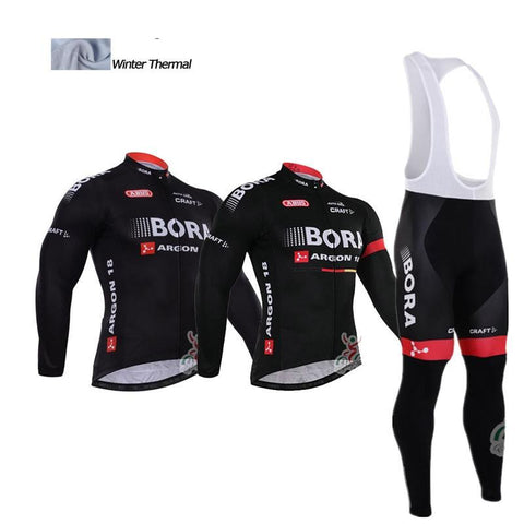 2016 A2 Bora Cycling jersey winter thermal fleece Set