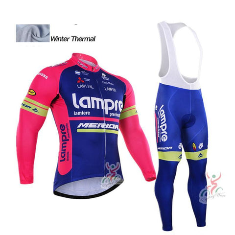 A24 Winter cycling clothing thermal fleece cycling jersey Set