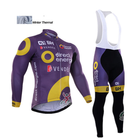 2016 A3 2016 new Winter thermal fleece cycling jersey + Bibs Set