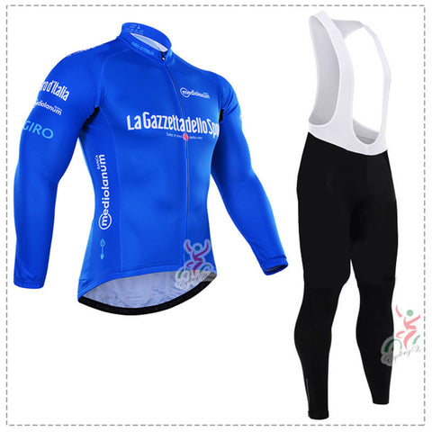 A1 Winter cycling clothing long thermal fleece Set