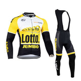 2016 A10 Lotto Winter thermal fleece cycling jersey 2016 Set