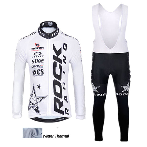 2016 A4 Rock Racing Winter thermal fleece cycling jersey set